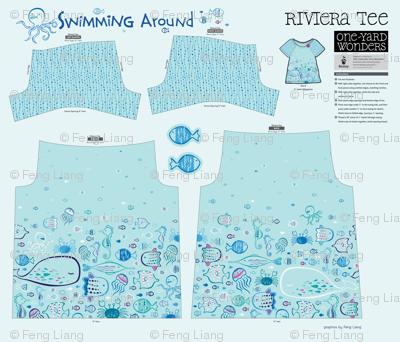 Swimming Around Riviera Tee