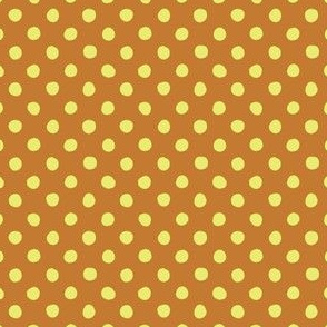 Jardin Loco-Dotty-Yellow on Orange