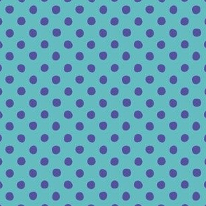 Jardin Loco-Dotty-Royal on Blue