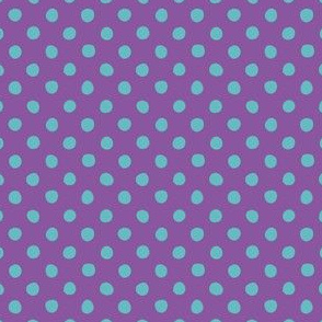 Jardin Loco-Dotty-LtBlue on Purple