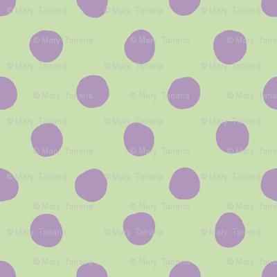 Jardin Loco-Dotty-Lavender on Yellow
