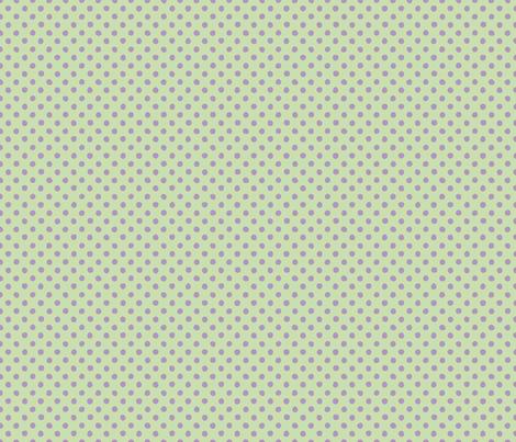 Jardin Loco-Dotty-Lavender on Yellow fabric by groovity on Spoonflower - custom fabric