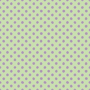 Jardin Loco-Dotty-Lavender on Yellow