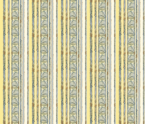 Lions In Stripes Yellow fabric by karendel on Spoonflower - custom fabric