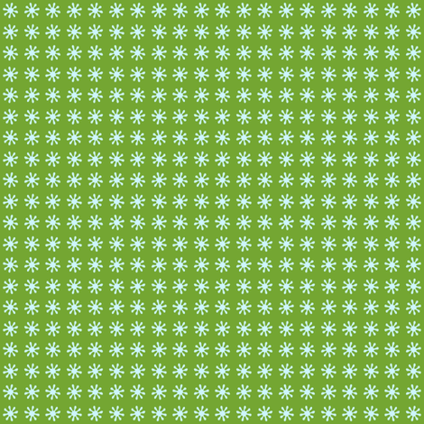 Flurry flake green fabric by lilbirdfly on Spoonflower - custom fabric