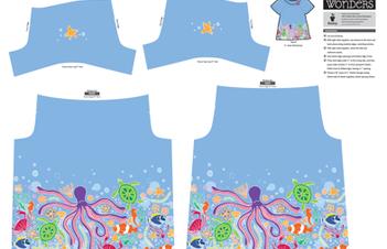 Sea Festival Little One Yard Wonders Riviera Tee fabric by holladaydesigns on Spoonflower - custom fabric