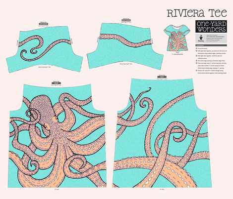 An octopus under the sea fabric by lucybaribeau on Spoonflower - custom fabric