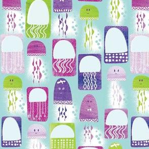 Jellyfish Bloom Surface Pattern