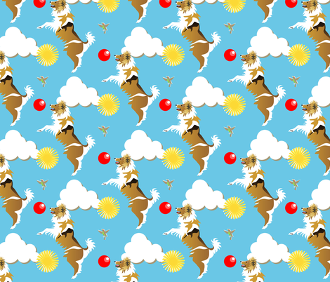 Jumping for joy fabric by moirarae on Spoonflower - custom fabric