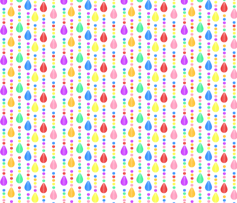 Candy Rain white background tiny fabric by glanoramay on Spoonflower - custom fabric