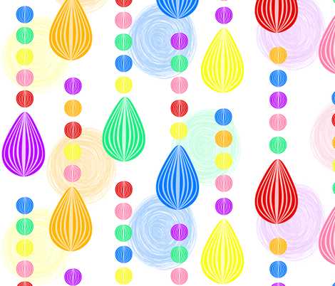 Candy Rain scribble background large fabric by glanoramay on Spoonflower - custom fabric