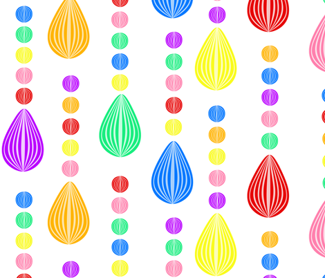Candy Rain white background large fabric by glanoramay on Spoonflower - custom fabric