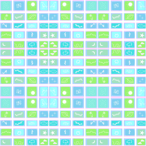 Symbol Squares fabric by robin_rice on Spoonflower - custom fabric