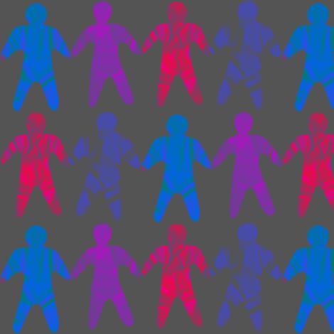menschenkette-farbe fabric by gabriolisa on Spoonflower - custom fabric