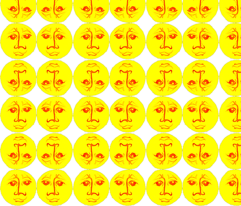 Man in the Sun 36 fabric by whimsikate on Spoonflower - custom fabric