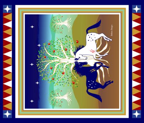 Equestrian_Garden_of_Eden fabric by dehaan_designs on Spoonflower - custom fabric