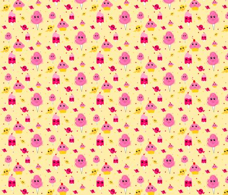 Kawaii Sweets fabric by ninjaauntsdesigns on Spoonflower - custom fabric