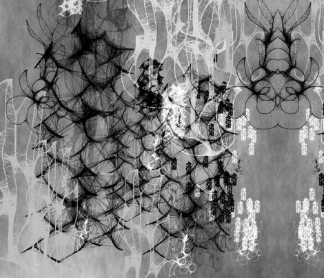 Black Ocean fabric by feebeedee on Spoonflower - custom fabric