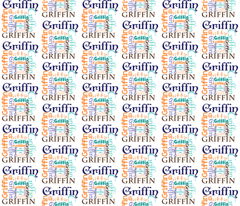 Griffin Name Fabric fabric by sprockit on Spoonflower - custom fabric