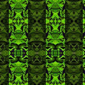 Green Fractal Stripes in Mirror Repeat