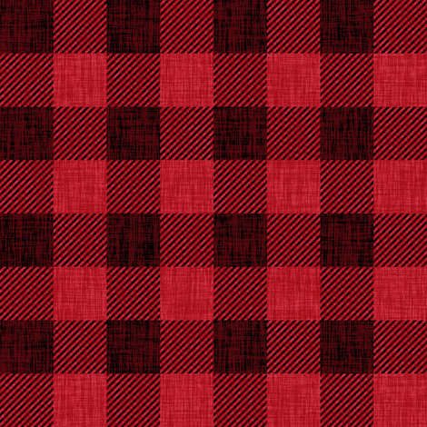Rustic Check - bright red fabric by thecalvarium on Spoonflower - custom fabric