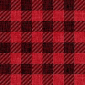 Rustic Check - bright red