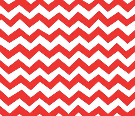 Chevron Poppy Red fabric by friztin on Spoonflower - custom fabric
