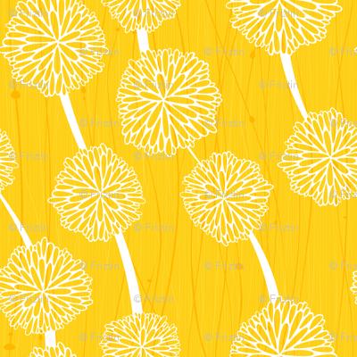 Pom Poms - Large Yellow by Friztin