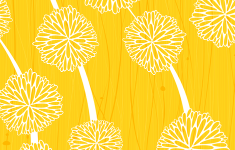 Pom Poms - Large Yellow by Friztin fabric by friztin on Spoonflower - custom fabric