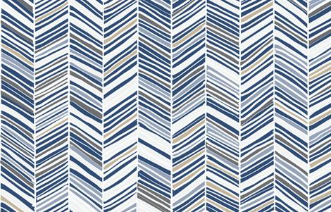 Herringbone Hues of Monaco Blue by Friztin fabric by friztin on Spoonflower - custom fabric