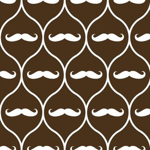 Mustache wallpaper brown