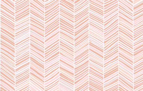 Herringbone Hues of Pastel Peachy Pink by Friztin fabric by friztin on Spoonflower - custom fabric