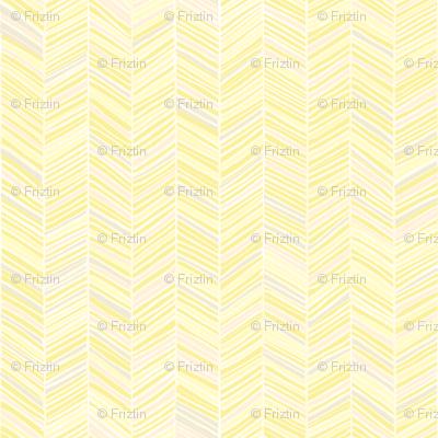 Herringbone Hues of Pastel Yellow by Friztin