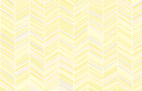 Herringbone Hues of Pastel Yellow by Friztin fabric by friztin on Spoonflower - custom fabric