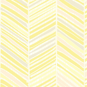 Herringbone Hues of Pastel Yellow by Friztin