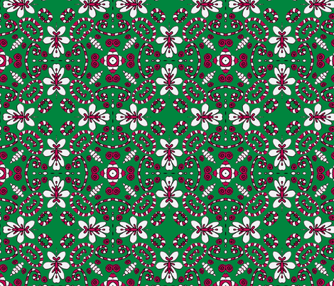 Henrietta Christmas fabric by captiveinflorida on Spoonflower - custom fabric