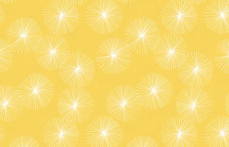 Dandelions M+M Yolk by Friztin fabric by friztin on Spoonflower - custom fabric