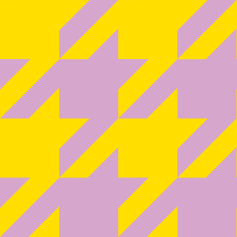 The Houndstooth Check ~ Easter fabric by peacoquettedesigns on Spoonflower - custom fabric