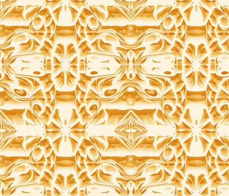 Golden Snowflake Swirls fabric by animotaxis on Spoonflower - custom fabric