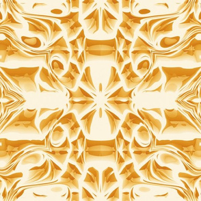 Golden Snowflake Swirls