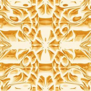 Golden Snowflake Swirls