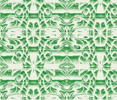 Emerald Snowflake Swirls fabric by animotaxis on Spoonflower - custom fabric
