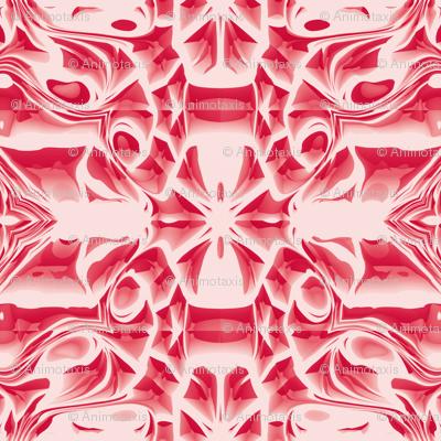 Red Snowflake Swirls