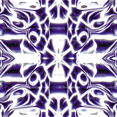 Indigo Snowflake Swirls