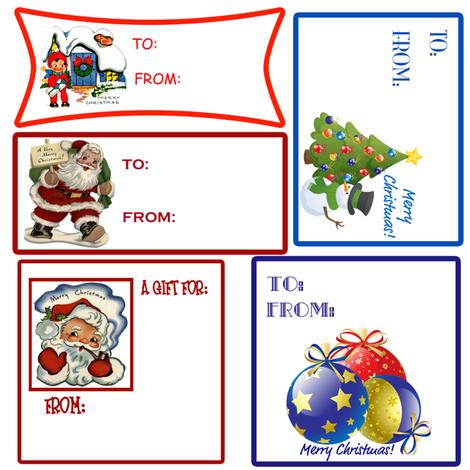 Christmas Gift Tags fabric by tulsa_gal on Spoonflower - custom fabric