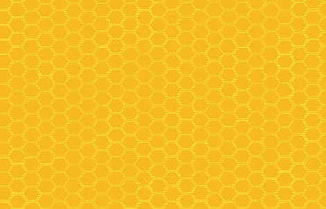 Beehive - Yellow fabric by friztin on Spoonflower - custom fabric