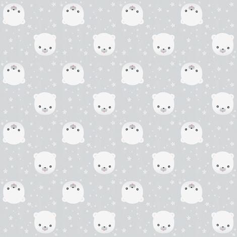Polar Bear fabric by kulikuli on Spoonflower - custom fabric