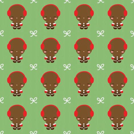 Ginger Bread Man fabric by kulikuli on Spoonflower - custom fabric