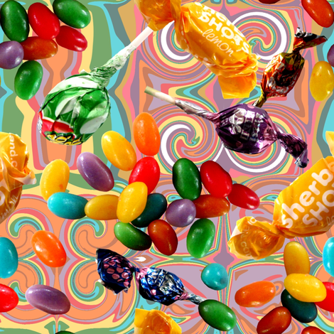 Sweets_galore fabric by art_on_fabric on Spoonflower - custom fabric