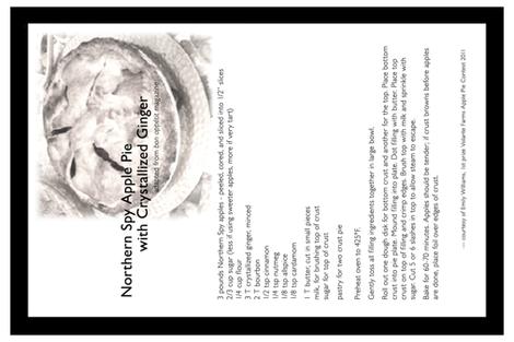 Apple pie recipe tea towel fabric by etheldora on Spoonflower - custom fabric